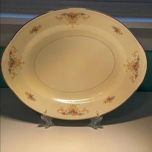Homer Laughlin J47N5 Vintage Oval Platter USA